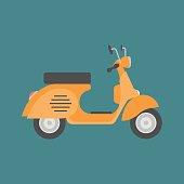 Vector scooter, flat design