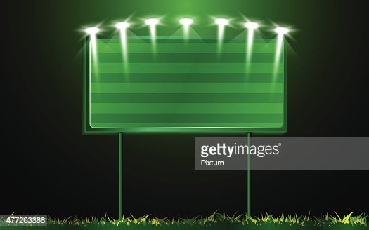 Vector Scoreboard And Grass Background Vector Art | Thinkstock