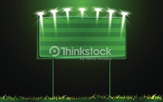 Vector Scoreboard And Grass Background Vector Art – Scoreboard Template
