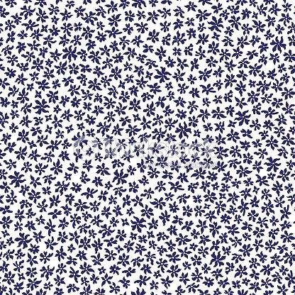 Vektor Nahtlose Florales Muster Von Hand Gezeichnet Stilisierte