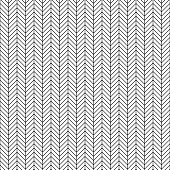 Vector seamless herringbone pattern. Geometric line texture. Black-and-white background. Monochrome design. Vector EPS10