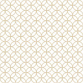 Vector seamless pattern, traditional geometric background, gold ethnic ornament, japanese design wallpaper, oriental abstract vector illustration, asia elements, vintage style.