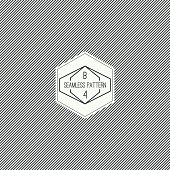Vector seamless pattern with hipster vintage old banner. Repeating geometric shapes, diagonal stripe