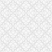 Vector seamless pattern. Luxury baroque texture. Regularly repeating retro ornament. Pattern can be used as a background, wallpaper, wrapper, page fill, element of ornate decoration