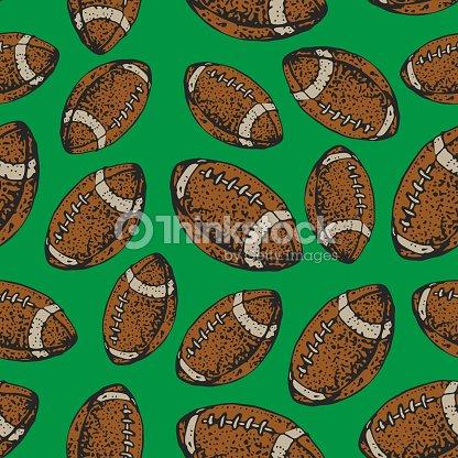 patrón transparente de vector con pelotas de fútbol americano. Deporte  Rugby. Fondo de estilo 766e54ba87fc7