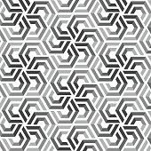 Vector seamless pattern with hexagonal elements ; vector illustration