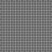 Vector seamless weave pattern. Rattan texture. Black-and-white background. Monochrome design. Vector EPS 10