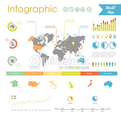 Vector set elements of infographics world map and information vector set elements of infographics world map and information graphics vector art gumiabroncs Image collections
