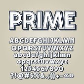 Vector set of old style letters, numbers and symbols. Contains graphic style.