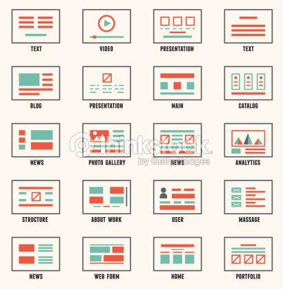Vector Set Of Sitemaps Symbols For Webpage Vector Art Thinkstock