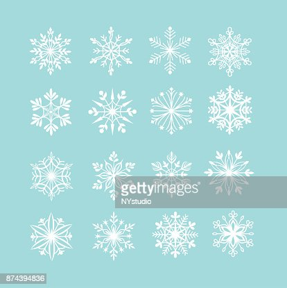 Vector set of snowflakes : Vector Art