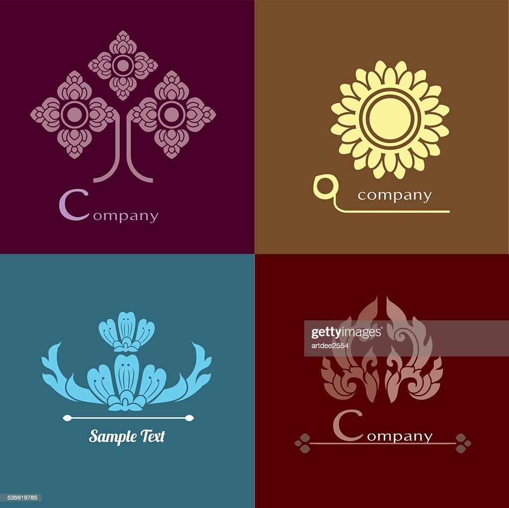 Vector set of Thai ornament design and decoration. : Vector Art
