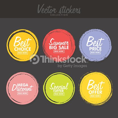 Vector set of vintage colorful labels for greetings and promotion vector set of vintage colorful labels for greetings and promotion vector art m4hsunfo