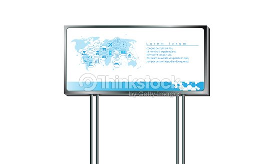 vector sign billboard design template for advertising marketing