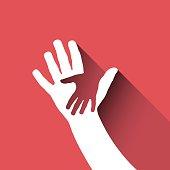 Vector sign children hand