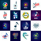 Vector sign music. Illustration of musical notes.