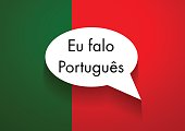 Vector Sign Speaking Portuguese