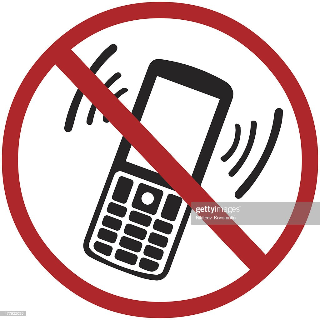 vector sign turn off your mobile phone vector art thinkstock rh thinkstockphotos com Lost Cell Phone Clip Art No Cell Phone Usage Sign