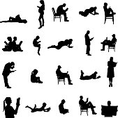 Vector Silhouettes Of People Vector Art Thinkstock