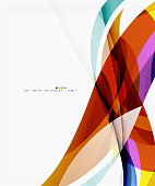 Vector silk wave background. Vector template background for workflow layout, diagram, number options or web design
