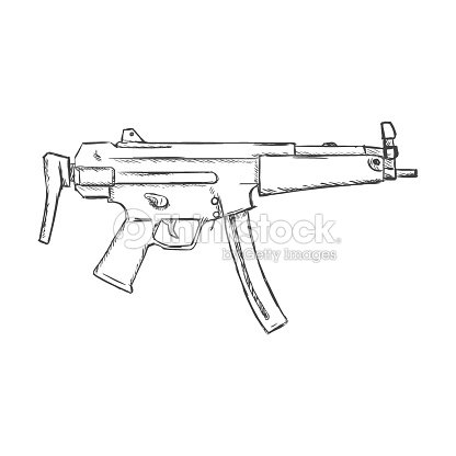 Machine Gun Outline