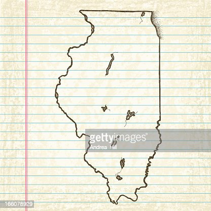 Vector Sketchy Map On Old Lined Paper Background Missouri Vector – Line Paper Background