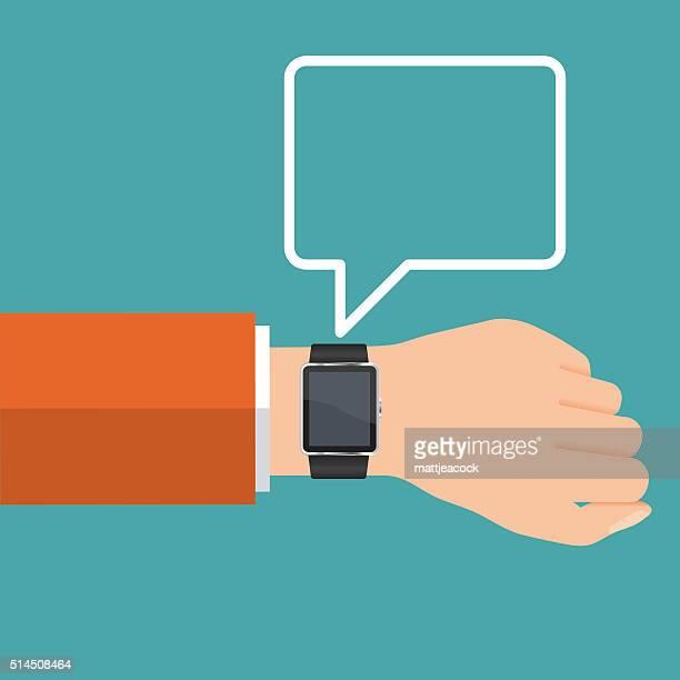 Vettoriale Smartwatch comunicazione