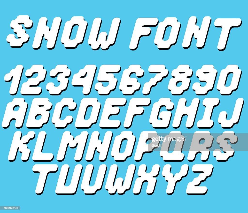 Vector snow font : Vector Art