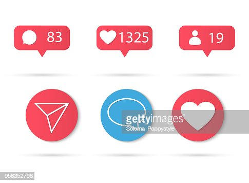 Vector social network Like. Illustration Isolated on white background. Marketing in social networks in business. Design Elements for Internet, App : stock vector