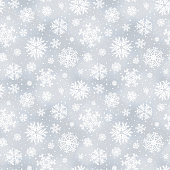 Soft winter seamless pattern, background with snowflakes. Vector illustration