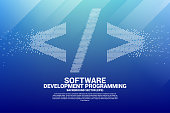 Concept for Programming language technology and coding.