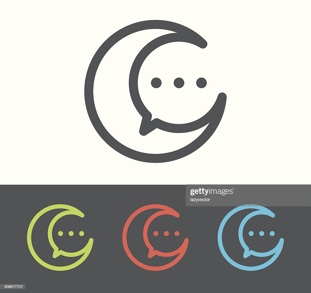 Vector speech bubble icon : Vector Art