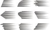 Vector speed lines. Flat design, vector illustration, vector.
