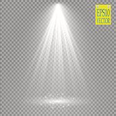 Vector Spotlights. Scene. Light Effects Magic concept