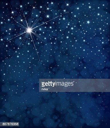 Vector starry  night sky  background. : Vector Art