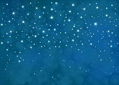 Vector starry  night sky  background.