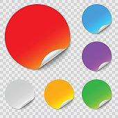 vector round stickers set