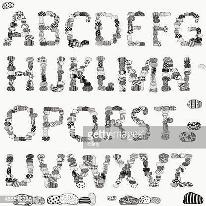 Alphabet Artistique vector alphabet de pierre artistique pierres clipart vectoriel