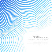 Abstract background with curved lines and shapes. Distortion of space. Waves and folds.