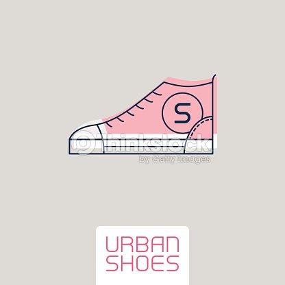Stilizzato Sagoma Sneakers Scarpe Xrfau Vettoriale Urban Sport Di Icona hrsdoCBtQx