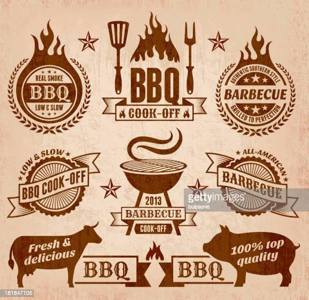 Vector summer barbecue icon collection