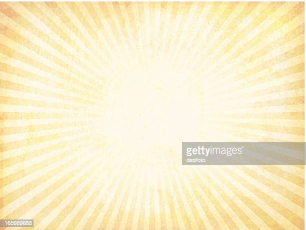 Vector sunburst background with a grungy look