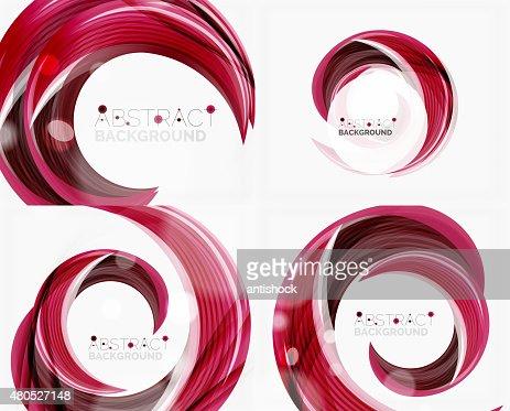 渦巻きライン、抽象的な背景ベクトル : ベクトルアート