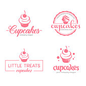 Vector symbol design. Cupcakes bakery icon