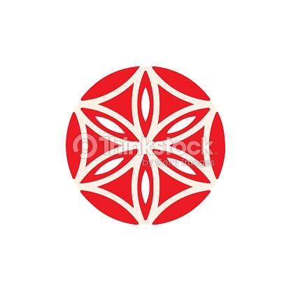 Symbole De Vecteur La Fleur Daphrodite Geometrique Rose La Rose