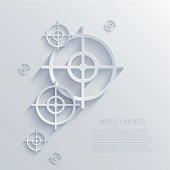 Vector target background. Eps10