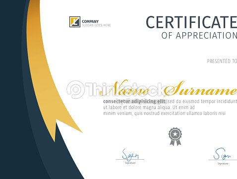 Vector Template For Certificate Vector Art Thinkstock