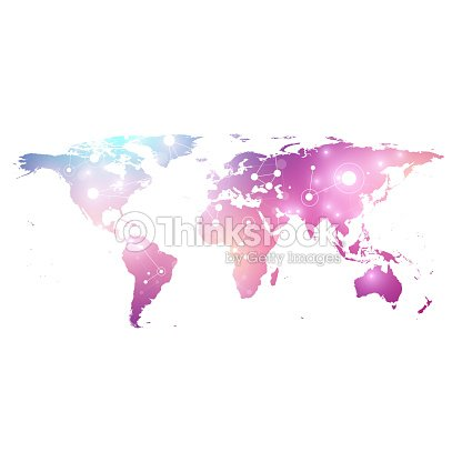 Vector template world map with global technology networking concept vector template world map with global technology networking concept global network connections digital data gumiabroncs Images
