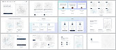 Vector templates for website design, minimal presentations, portfolio. UI, UX, GUI. Design of headers, dashboard, contact forms, features, pricing, e-commerce page, blog etc. Social network concept
