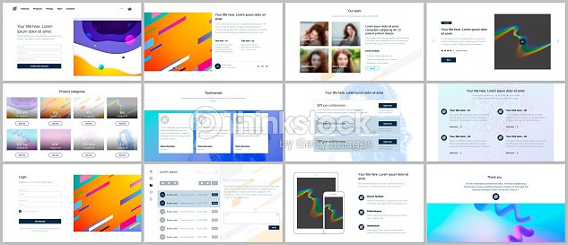 Plantillas Vectoriales Para Diseño De Páginas Web Presentaciones ...